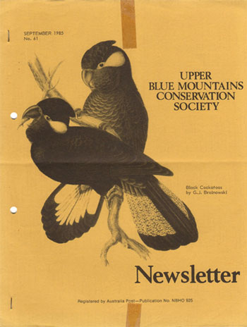 Newsletter Cover Sep. 1985